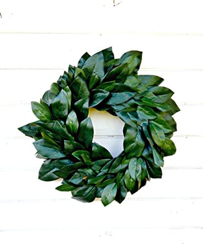 Magnolia Wreath Farmhouse WreathWinter WreathSpring WreathSummer Wreath Farmhouse Home Decor Housewarming Gift Door WreathsFixer Upper Decor Christmas Wreath Housewarming Gift 0 2