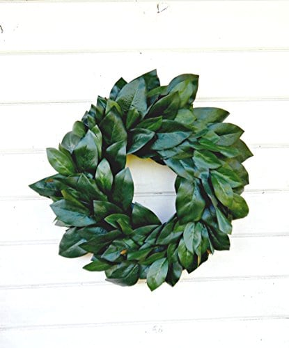 Magnolia Wreath Farmhouse WreathWinter WreathSpring WreathSummer Wreath Farmhouse Home Decor Housewarming Gift Door WreathsFixer Upper Decor Christmas Wreath Housewarming Gift 0