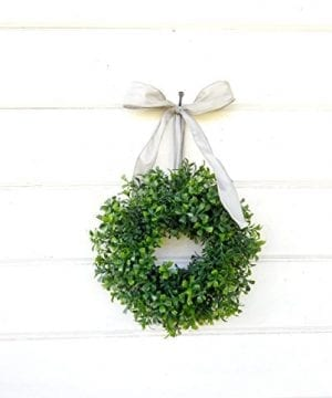 Mini Window Wreath MINI Boxwood Wreath Christmas Wreath Holiday Wreath Country Cottage Wreath Farmhouse Decor SCENTED Wreath Small Wreath Holiday Home Decor 0 0 300x360
