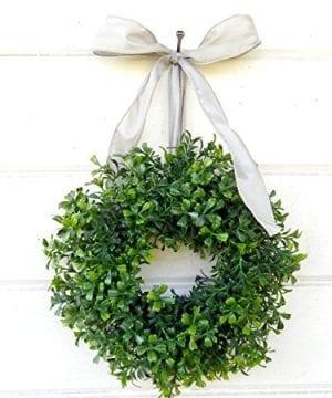 Mini Window Wreath MINI Boxwood Wreath Christmas Wreath Holiday Wreath Country Cottage Wreath Farmhouse Decor SCENTED Wreath Small Wreath Holiday Home Decor 0 1 300x360