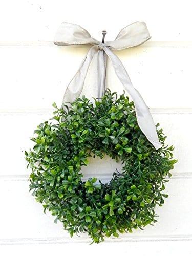 Mini Window Wreath MINI Boxwood Wreath Christmas Wreath Holiday Wreath Country Cottage Wreath Farmhouse Decor SCENTED Wreath Small Wreath Holiday Home Decor 0 1
