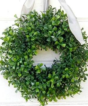 Mini Window Wreath MINI Boxwood Wreath Christmas Wreath Holiday Wreath Country Cottage Wreath Farmhouse Decor SCENTED Wreath Small Wreath Holiday Home Decor 0 2 300x360