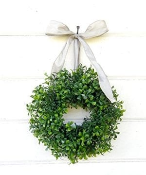 Mini Window Wreath MINI Boxwood Wreath Christmas Wreath Holiday Wreath Country Cottage Wreath Farmhouse Decor SCENTED Wreath Small Wreath Holiday Home Decor 0 300x360