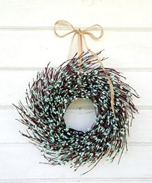 Mini Wreath Window Wreath Spring Wreath Summer Wreath TEAL Wreath Twig Wreath Farmhouse Wreath Farmhouse Decor Turquioise Wreath Door Wreath Housewarming Gift Coastal Beach Decor 0 300x360