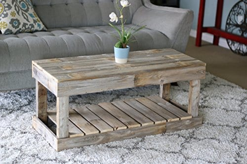 Natural Slatted Bottom Coffee Table 0 0