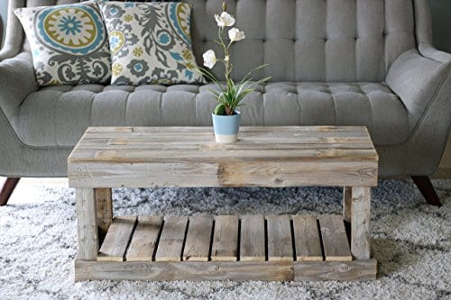 Natural Slatted Bottom Coffee Table 0 1