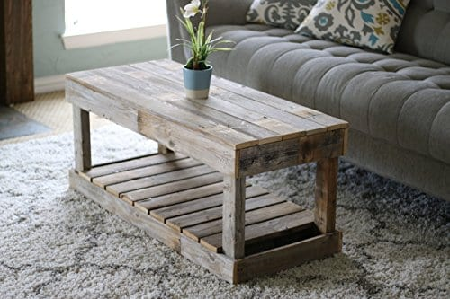 Natural Slatted Bottom Coffee Table 0