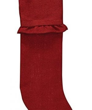 Park Designs Burlap Christmas Stocking Red 0 300x360