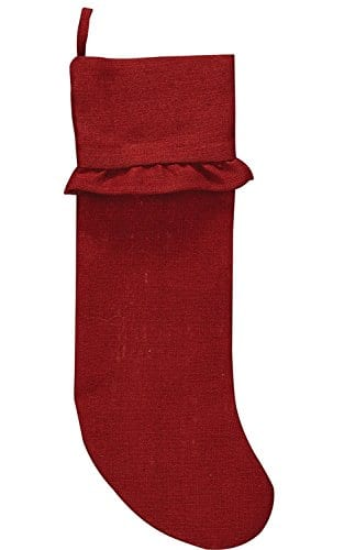 Park Designs Burlap Christmas Stocking Red 0