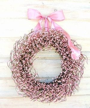 Pink Wreath Spring Wreath Valentines Day WreathEaster WreathPink Wreath Rustic Farmhouse Wreath Valentines Wreath Wreaths Baby Shower Wreath Baby Nursery Decor Its A Girl Pink Girl Decor 0 300x360