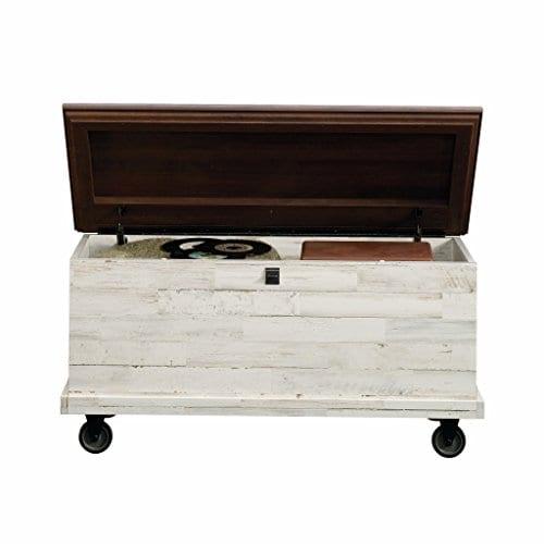 Sauder 419590 Eden Rue Rolling Chest White Plank 0 1