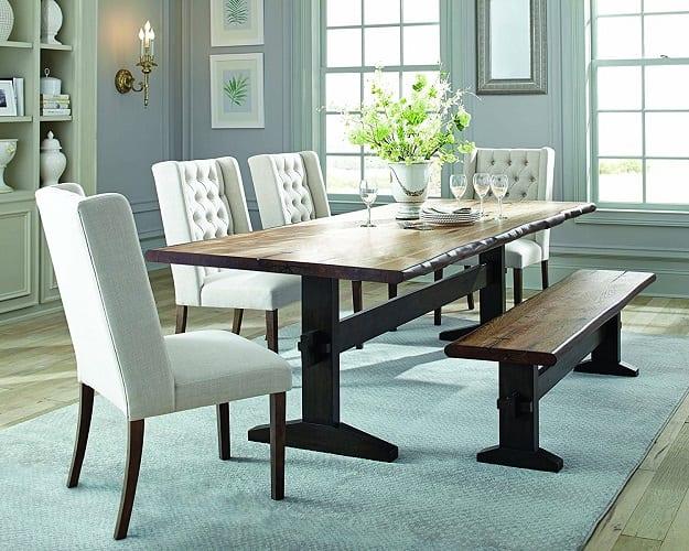 Scott Living Burnham Collection Espresso Dining Table