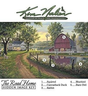 The Road Home By Kim Norlien 24x42 Farm House Red Barn Windmill Silo Cows Pond Dog Country Framed Art Print Picture 0 1 300x329