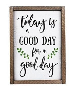 Today Is A Good Day For A Good Day Funny Framed Wood Sign Rustic Funny Sign Rustic Wall Art Gift For Friend 0 300x360