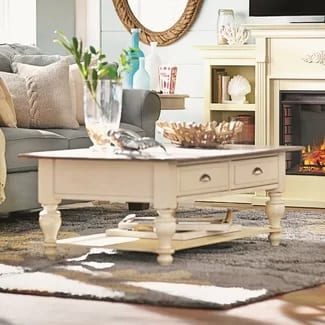 august grove white coffee table