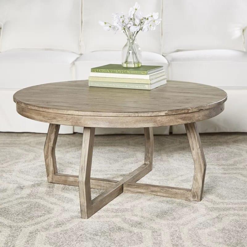 hibbert birch lane rustic coffee table