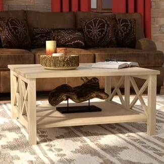 loon peak farmhouse coffee table