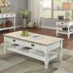 White Farmhouse Coffee Tables