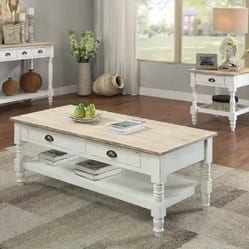 White Farmhouse Coffee Tables