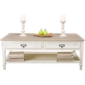 white lark manor farmhouse coffee table