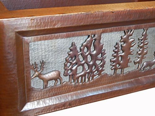 Apron Front Farmhouse Kitchen Mexican Copper Sink Pine Deer 0 1