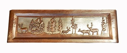 Apron Front Farmhouse Kitchen Mexican Copper Sink Pine Deer 0 2