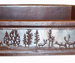 Apron Front Farmhouse Kitchen Mexican Copper Sink Pine Deer 0 300x252