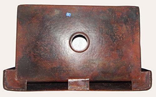 Apron Front Farmhouse Kitchen Mexican Handhammered Copper Sink Rivets Single Bowl 0 0