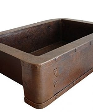 Ariellina Farmhouse 14 Gauge Hammered Copper Kitchen Sink 0 0 300x360
