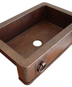 Tremendous Ariellina Farmhouse 14 Gauge Hammered Copper Kitchen Sink Download Free Architecture Designs Scobabritishbridgeorg