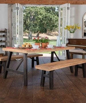 Arlington Brushed Grey Acacia Wood Dining Set 0 300x360