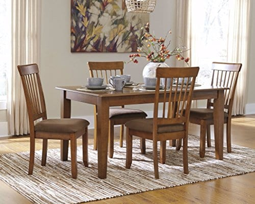 Ashley Furniture Signature Design Berringer Rectangular Dining Room Table Vintage Casual Rustic Brown 0