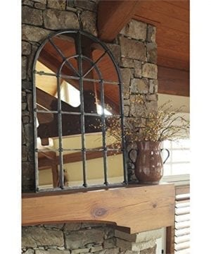Ashley Furniture Signature Design Oengus Arched Window Finished Metal Mirror Traditional Bronze Finish 0 0 300x360