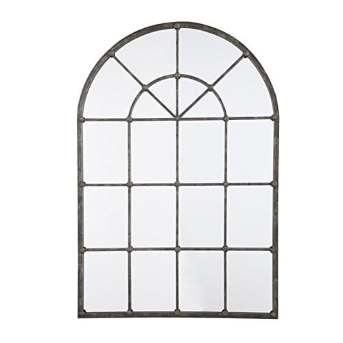 Ashley Furniture Signature Design Oengus Arched Window Finished Metal Mirror Traditional Bronze Finish 0