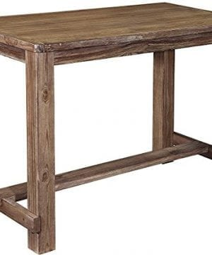 Ashley Furniture Signature Design Pinnadel Dining Room Counter Table Rectangular Vintage Casual Light Brown 0 300x360