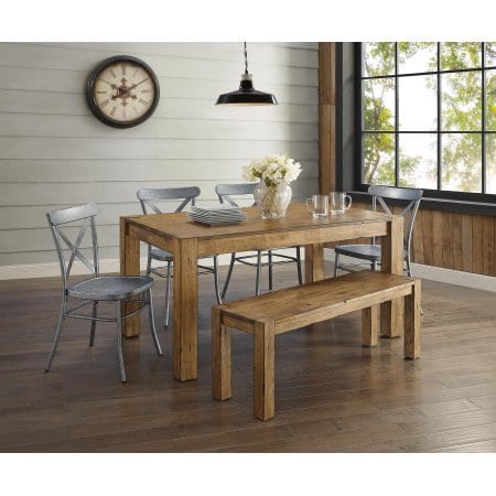Better Homes And Gardens Bryant Dining Table Rustic Brown 0 0