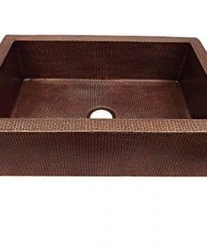 Copper Farmhouse Kitchen Sink 33x22x9 Aged Copper 0 1 300x360
