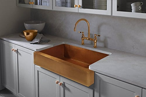 The Copper Design Single Well Farmhouse Sink -Apron Front Farmhouse Kitchen  Sink 33\
