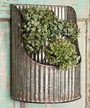 Corrugated Metal Half Round Decorative Wall Bin Industrial Farmhouse 0 300x360