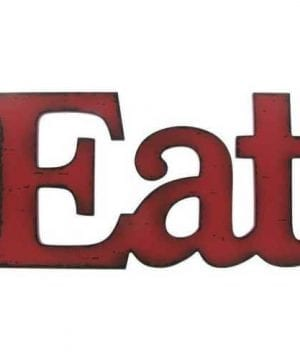 Eat Red Wooden Farmhouse Kitchen Wall Plaque 0 300x360