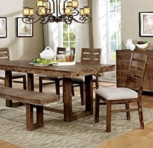 HOMES Inside Out IDF 3358T Dawson Dining Table Natural Tone Industrial 0 0 300x291