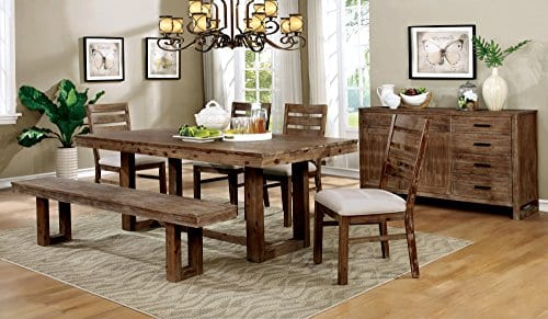 Homes Inside Out Natural Tone Dawson Dining Table