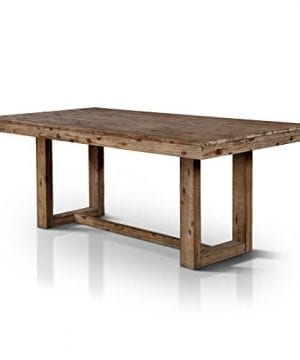 HOMES Inside Out IDF 3358T Dawson Dining Table Natural Tone Industrial 0 300x360