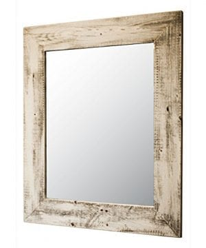 Mirror With Barnwood Frame Wall Mount Handmade Rustic Reclaimed Wood 22 X 26 Inches 0 300x360