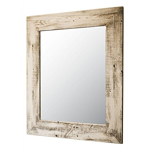 Mirror With Barnwood Frame Wall Mount Handmade Rustic Reclaimed Wood 22 X 26 Inches 0
