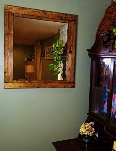 Renewed Dcor Farmhouse Mirror In 20 Stain Colors Large Wall Mirror Rustic Modern Home Home Decor Mirror Housewares Woodwork Frame Stained Mirror Available In 3 Sizes 0 0
