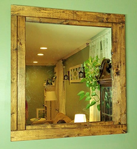 Renewed Dcor Farmhouse Mirror In 20 Stain Colors Large Wall Mirror Rustic Modern Home Home Decor Mirror Housewares Woodwork Frame Stained Mirror Available In 3 Sizes 0 1