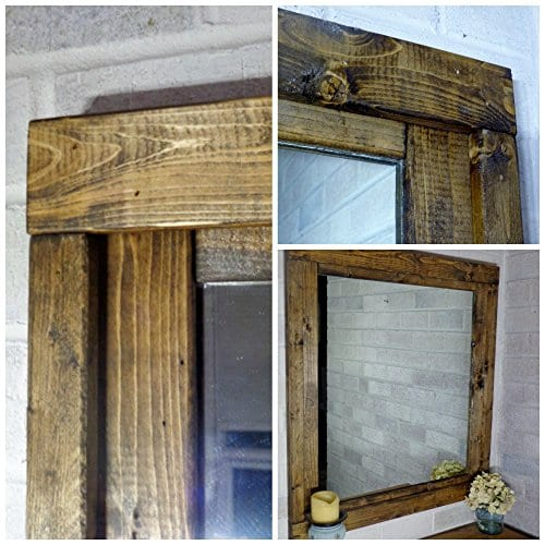 Renewed Dcor Farmhouse Mirror In 20 Stain Colors Large Wall Mirror Rustic Modern Home Home Decor Mirror Housewares Woodwork Frame Stained Mirror Available In 3 Sizes 0 2
