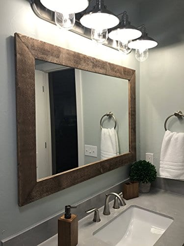 Renewed Dcor Shiplap Reclaimed Wood Mirror In 20 Stain Colors Large Wall Mirror Rustic Modern Home Home Decor Mirror Housewares Woodwork Frame Stained Mirror 0