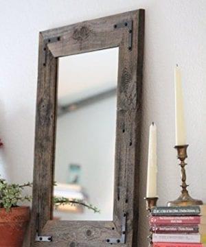 Rustic Wall Mirror Wall Mirror 18 X 24 Vanity Mirror Bathroom Mirror Rustic Mirror Reclaimed Wood Mirror Bathroom Vanity 0 300x360
